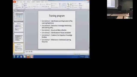 Thumbnail for entry  Use of the Digication Eportfolio System in the Sustainability Specialization- Brown Bag 10-11-13