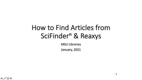 Thumbnail for entry How to Find Full-text Articles from SciFinderⁿ and Reaxys