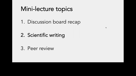 Thumbnail for entry Lecture 6-Part 1_Scientific writing