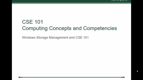 Thumbnail for entry CSE 101 - Windows File Management - MSU AFS
