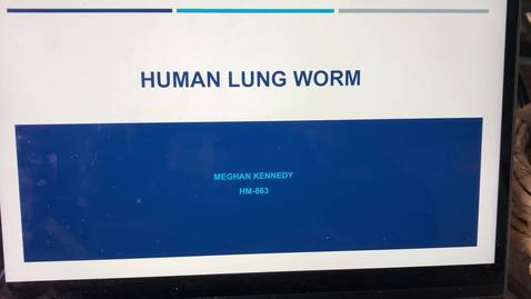Thumbnail for entry HM863 human lung worm