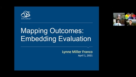 Thumbnail for entry Mapping Outcomes: Embedded Evaluation