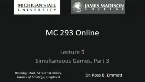 Thumbnail for entry Simultaneous Games, Part III