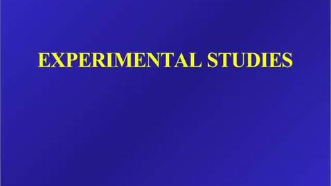 Thumbnail for entry HM803 Experiment Studies