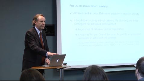 Thumbnail for entry Achievement Emotions - Dr. Reinhard Pekrun