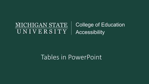 Thumbnail for entry PowerPoint Tables Tutorial