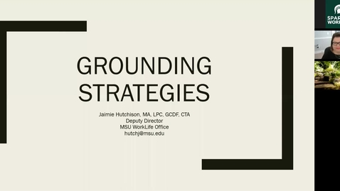 Thumbnail for entry Grounding Strategies: Tools for Coping with Stress