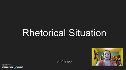 Thumbnail for entry Rhetorical Situation