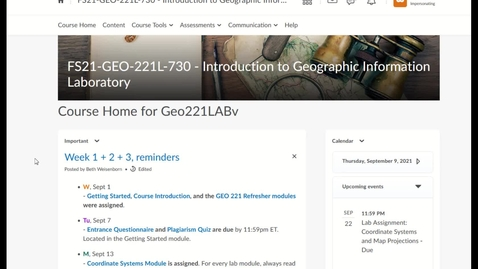 Thumbnail for entry Week 2 Notes (FS21 GEO 221LAB, section 730)