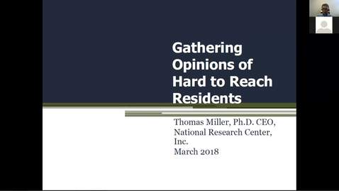 Thumbnail for entry Current Issues Affecting Michigan Local Governments: Gathering the Opinions of Hard-to-Reach Residents