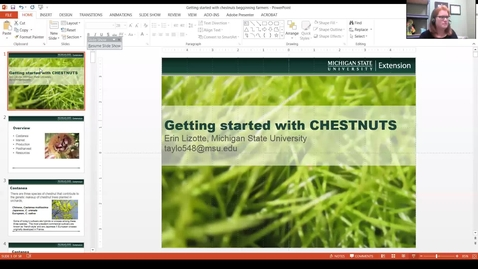 Thumbnail for entry Getting started with edible chestnut production