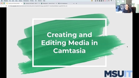 Thumbnail for entry IT Virtual Workshop - Creating & Editing Media in Camtasia (09.09.2021)