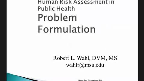 Thumbnail for entry HM816 Module-2-Problem-Formulation-Lecture-Problem-Formulation