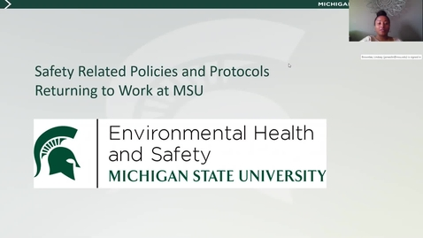 Thumbnail for entry UPDATES: Revisiting Protocols for Returning to Work with EHS