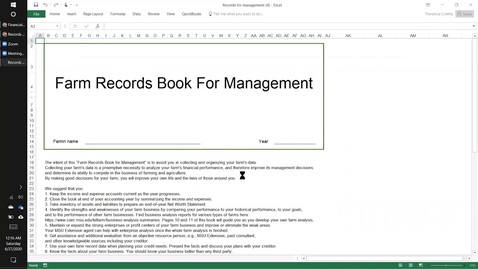 Thumbnail for entry Downloading or printing the Farm Records Book for Management