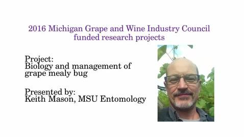 Thumbnail for entry Biology and Management of Grape Mealy Bug