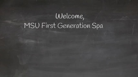 Thumbnail for entry NSO First -Generation Parent Video