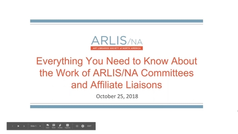 Thumbnail for entry Everything You Need to Know about ARLIS/NA Committee Work