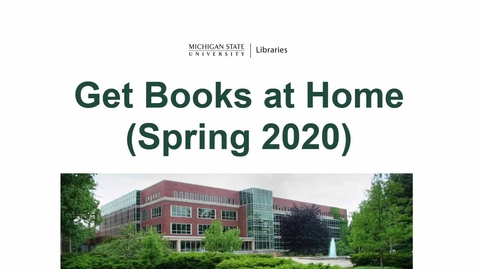 Thumbnail for entry Get Books at Home (Spring 2020)
