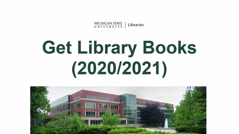 Thumbnail for entry Get Library Books (2020/2021)