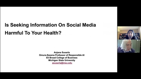 Thumbnail for entry Is Seeking Information on Social Media Harmful to Your Health?