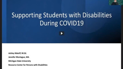 Thumbnail for entry Supporting Students with Disabilities During COVID19