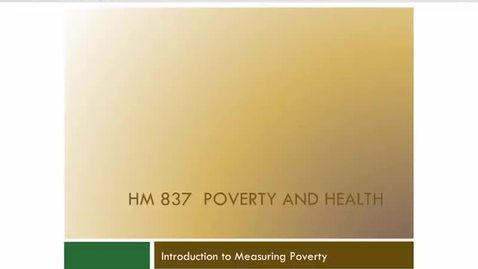 Thumbnail for entry Measuring Poverty