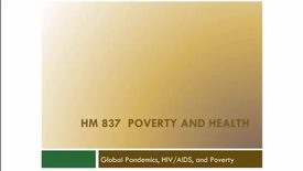 Thumbnail for entry Pandemics, HIV_AIDS and Poverty