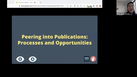 Thumbnail for entry Peering into Publications: Processes and Opportunities