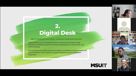 Thumbnail for entry Clip of IT Virtual Workshop - Tools for Consistent and Easier Grading: Digital Desk