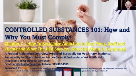 Thumbnail for entry VM 509 Controlled Substances Part 7
