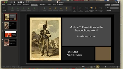 Thumbnail for entry Module 2: Revolutions in the Francophone World (Introduction)