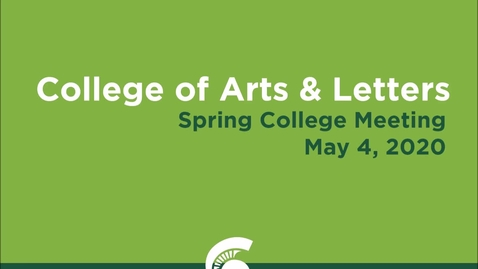Thumbnail for entry CAL Spring Meeting (May 4, 2020)