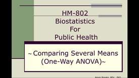 Thumbnail for entry HM802 sec730 Module10 ANOVA_SAS
