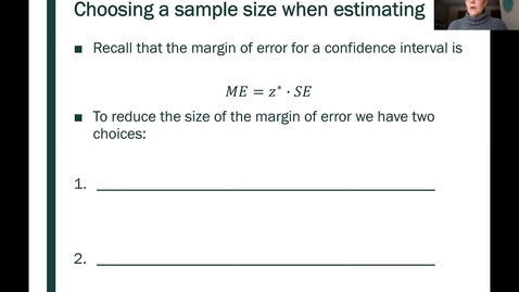 Thumbnail for entry STT 200 One Proportion Confidence Intervals, Part 5