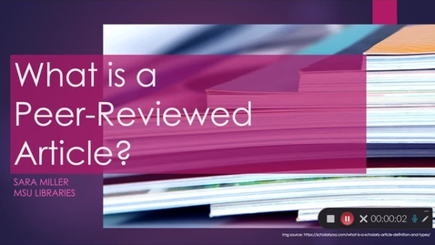 Thumbnail for entry What is a peer-reveiwed article?