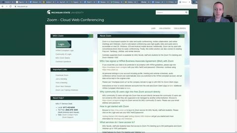 Thumbnail for entry IT Virtual Workshops - Zoom Basics (08.05.2021)