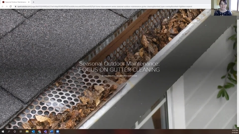 Thumbnail for entry Seasonal Outdoor Maintenance: Gutter Cleaning