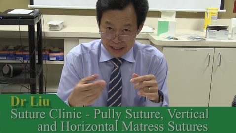 Thumbnail for entry Pully sutures and Mattress Sutures