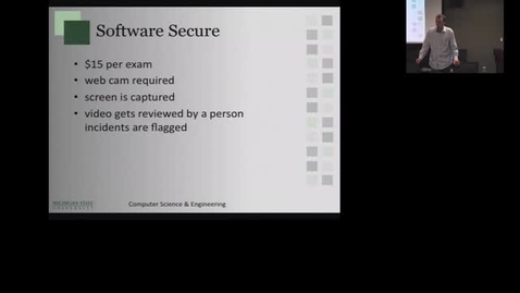 Thumbnail for entry  Experience with Software Secure Online Proctoring (4-4-14).