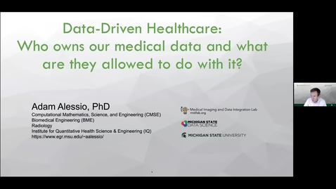 "Thumbnail for entry Healthcare Artificial Intelligence Needs Patient Data: Who ""Owns"" the Data About You?"