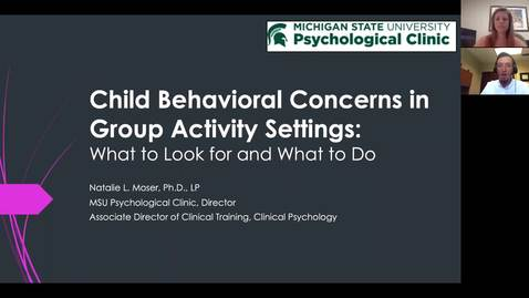 Thumbnail for entry July 16, 2019 - Child Behavioral Concerns in Group Activity Settings - NMP9 Webinar Recording