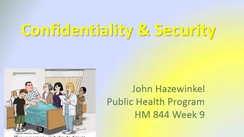Thumbnail for entry HM844 Week9Lecture