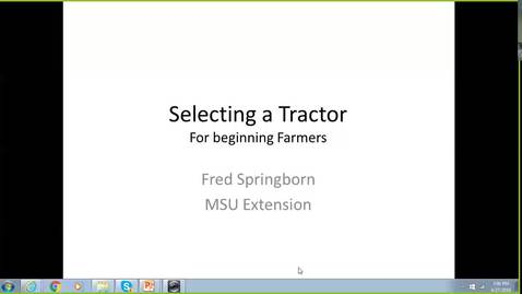 Thumbnail for entry Selecting a tractor for your small farm