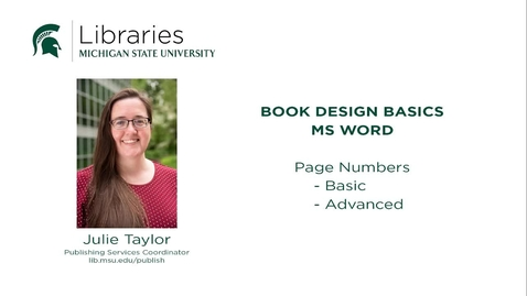 Thumbnail for entry Book Design Tips Page Numbers