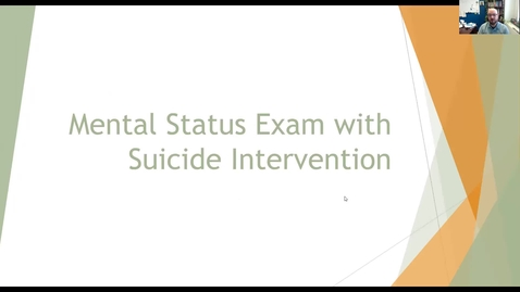 Thumbnail for entry Suicide Intervention - Part 2 of 2