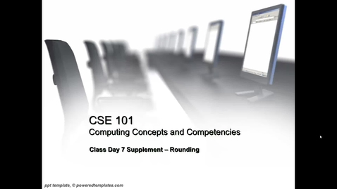 Thumbnail for entry CSE101.07A - Introduction to Rounding and Excel Rounding Functions