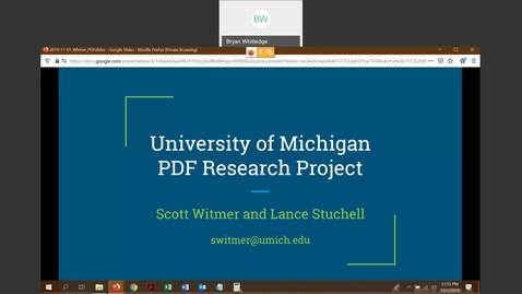 Thumbnail for entry UM PDF Research Project - Scott Witmer (University of Michigan)
