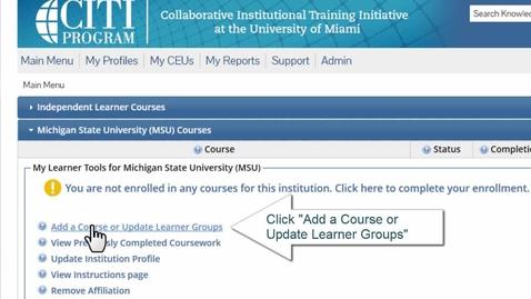Thumbnail for entry CITI Programs RCR registration