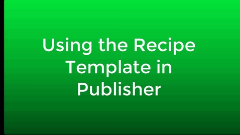 Thumbnail for entry Add Recipe to Template